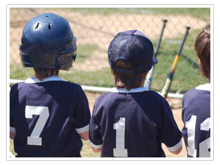 Kids Wearing Baseball Jersey